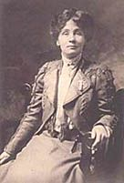 Emmeline Pankhurst, c.1908 - a leading British women's rights activist, who led the movement to win the right for women to vote. In 1879, she married Richard Pankhurst, a lawyer and supporter of the women's suffrage movement. He was the author of the Married Women's Property Acts of 1870 and 1882, which allowed women to keep earnings or property acquired before and after marriage. His death in 1898 was a great shock to Emmeline. -  Emmeline Pankhurst (1858 - 1928)