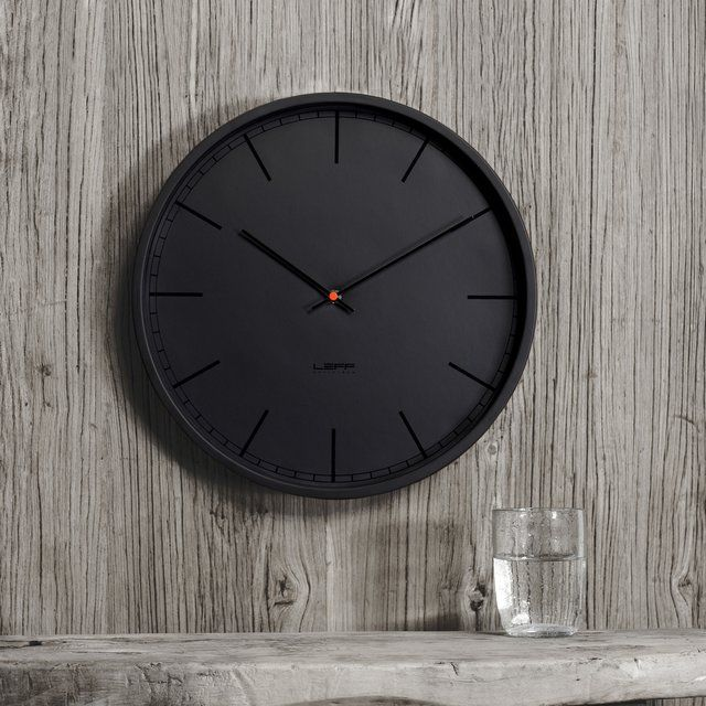 Leff Amsterdam Tone35 Wall #Clock - $169 / This is an incredibly beautiful and stylish wall clock with a minimalist design. It is part of Leff Amsterdam's Tone Collection, and there is no contrast in the color scheme to highlight the dials and index print from the background. http://thegadgetflow.com/portfolio/tone35-wall-clock/