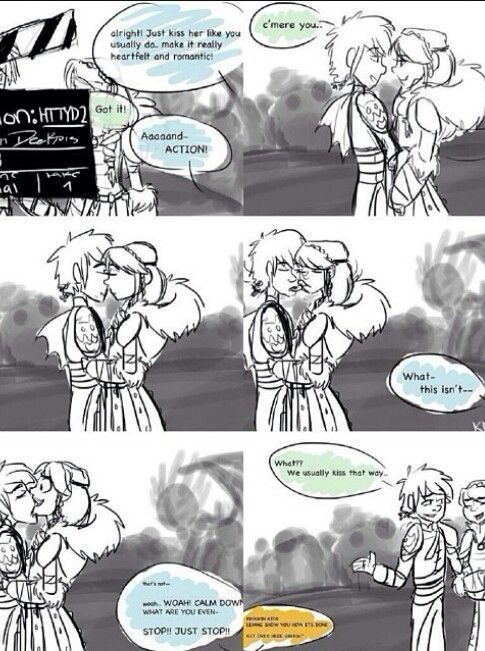 How To Train Your Dragon 2 Hiccup And Astrid Kiss