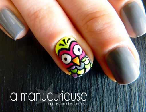 La Manucurieuse: Nail Art - Owl Nails