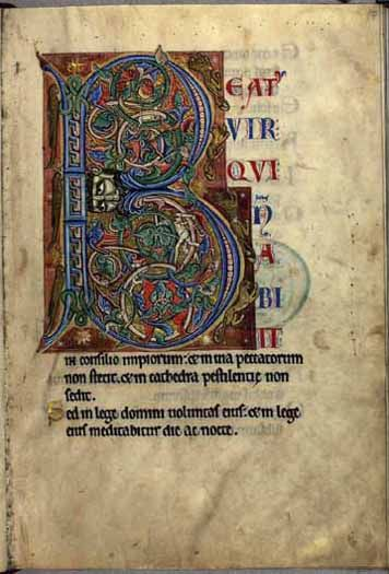 Latin translation of the 150 texts in the Book of Psalms in the Old ...