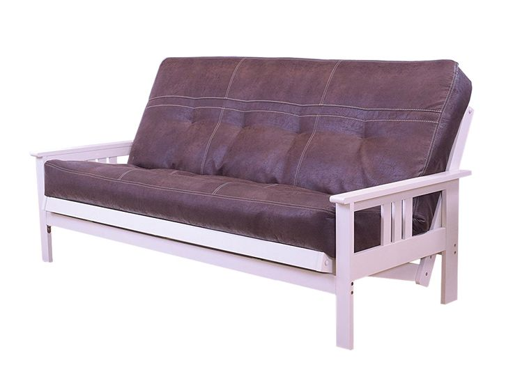 Mikasa White Hardwood Futon | Palance Mattress By Karasu Furniture