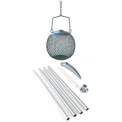 From 7.09 Opus Seed Ball Wild Bird Feeder - Green With Hanging Pole