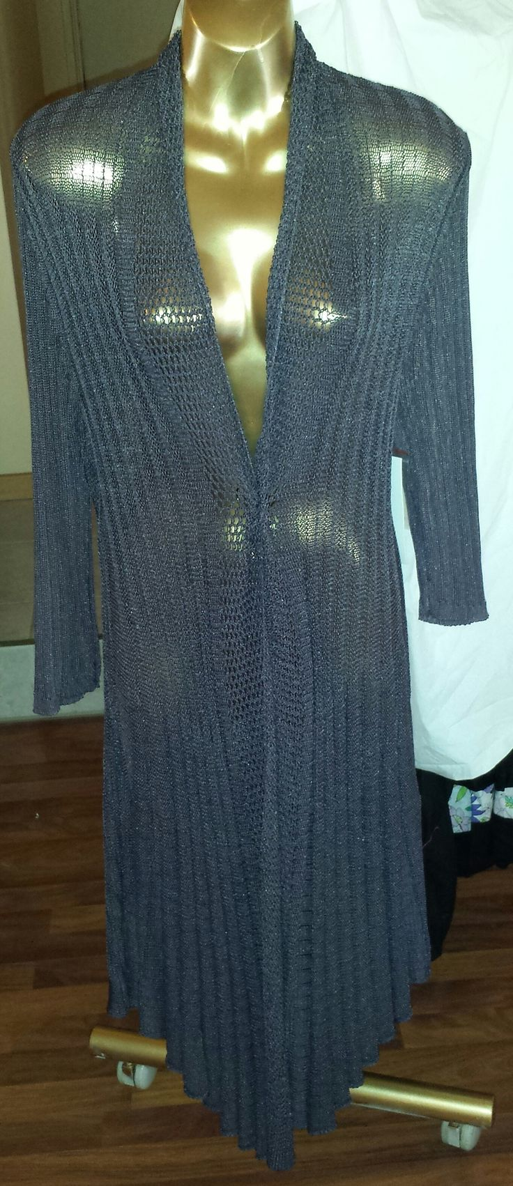 Heavy Crocheted Cardigan