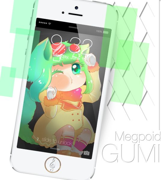 my illustration I made before XD Gumi Megpoid My Project for Keychain :eager: next Kaito XD  anime , manga , illustration