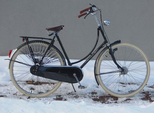 Gazelle with Schwalbe Delta Cruiser tires for winter, Woven Dress Guards by Lovely Bicycle!, via Flickr