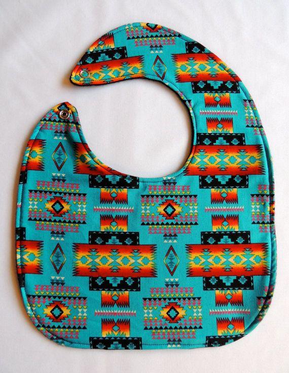 Native American Baby Bibs by SheLahNanabahDesigns on Etsy, $15.00