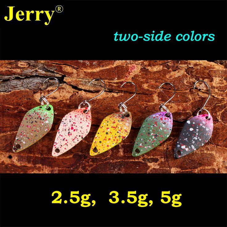Jerry 2,5g 3,5g 5g zwei seiten malerei matt farben kleine micro fischerei löffel trout löffel lockt angelausrüstung festkörper köder