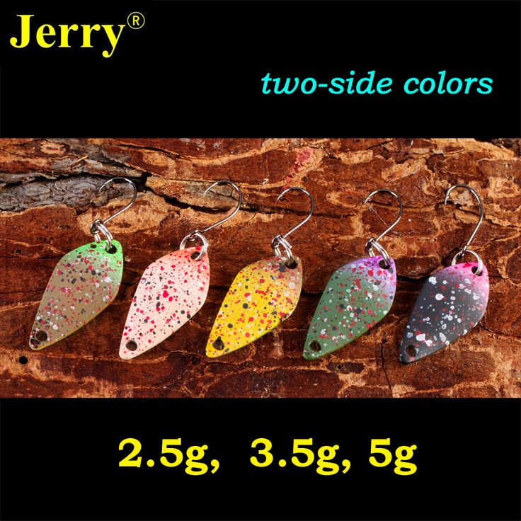 Jerry 2.5g 3.5g 5g two side painting matt colors small micro fishing spoons trout spoon lures fishing gear hard body bait