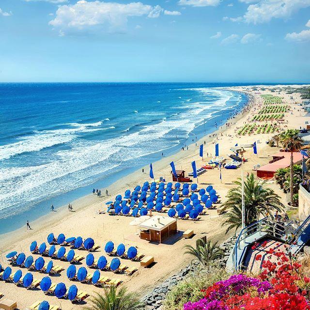 Sugen på en paus från februarivädret? Åk till Gran Canaria  Playa de Maspalomas   Link i bio till bästa resorna    #reseguiden #sommar #semester #grancanaria #maspalomas