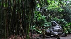 Shizen Sekitei, The Natural Stone Garden. A few points of interest: Large Buddha Statue, The Indigo Dye Basins, Kodakara-ishi, The Fertility Stone, The Ginkgo Tree, The Taiko Rock, and Cherry Trees. Admission is based on the honor system, ¥100 per adult (elementary age children and younger are free).