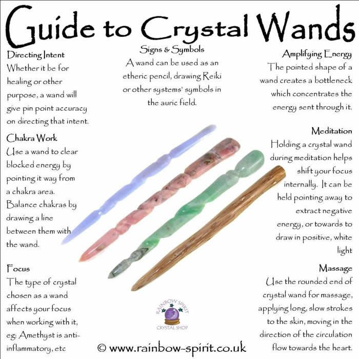 Rainbow Spirit crystal shop poster. Crystal healing uses crystal wands, here's my guide to using them