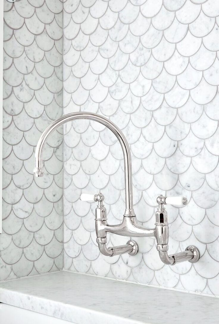 Fish tiles bathroom - Our Laundry We Just Love These Fish Scale Tiles Thanks To Art
