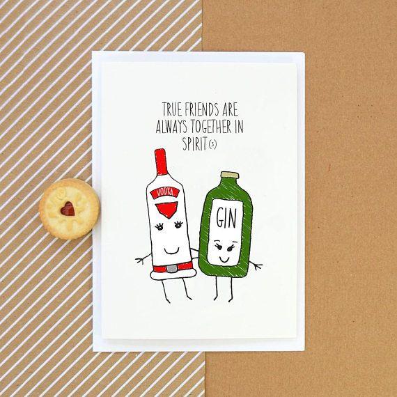 Friend Birthday Card Gin Card Card For Friend Best Friend Etsy In 2021 Birthday Cards For Friends Cards For Friends 21st Birthday Cards