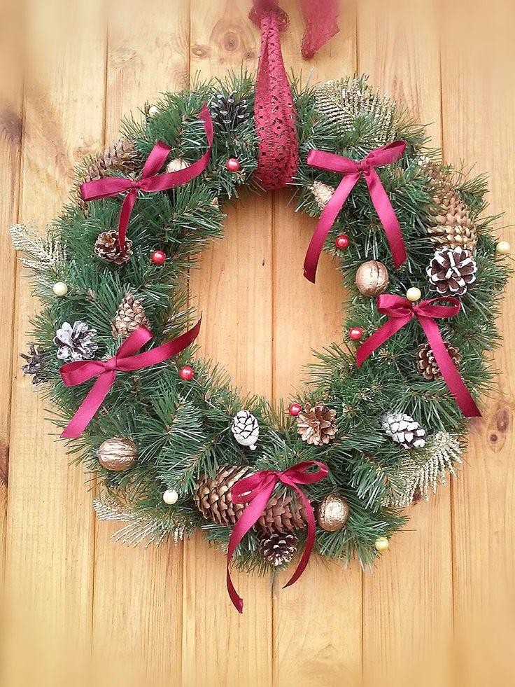 #Christmas wreath. New year wreath, christmas decoration, christmas 2016, #christmas wreath DIY, hand-made wreath, winter wreath, #Новогодний венок на двери, интерьерный венок, рождественский венок своими руками, новогодний декор, украшения на новый год.