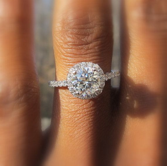 Diamond Engagement Ring and Wedding band set by BeautifulPetra! This is absolutely gorgeous!