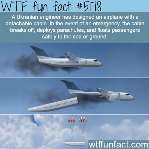 Airplane with detachable cabin - WTF fun facts