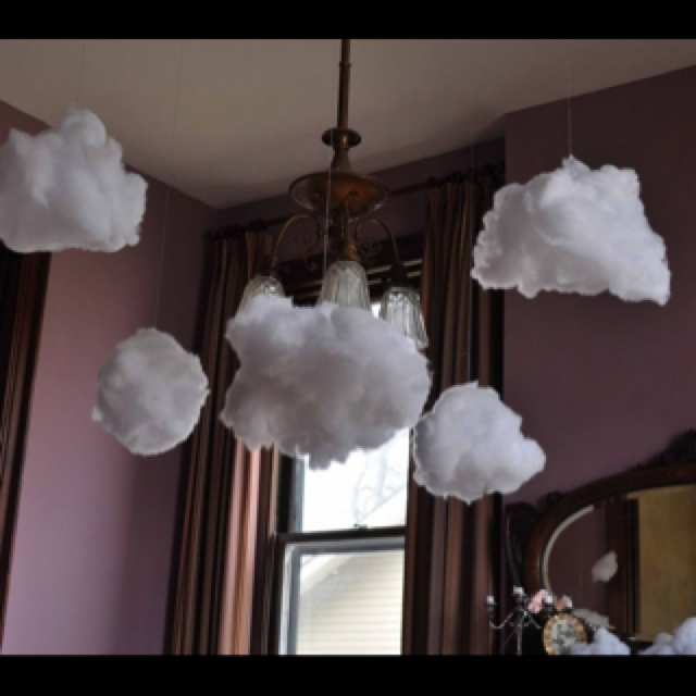 Perfect for a Care Bear themed Birthday party. How to make puffy clouds: curlybirds.typepa...
