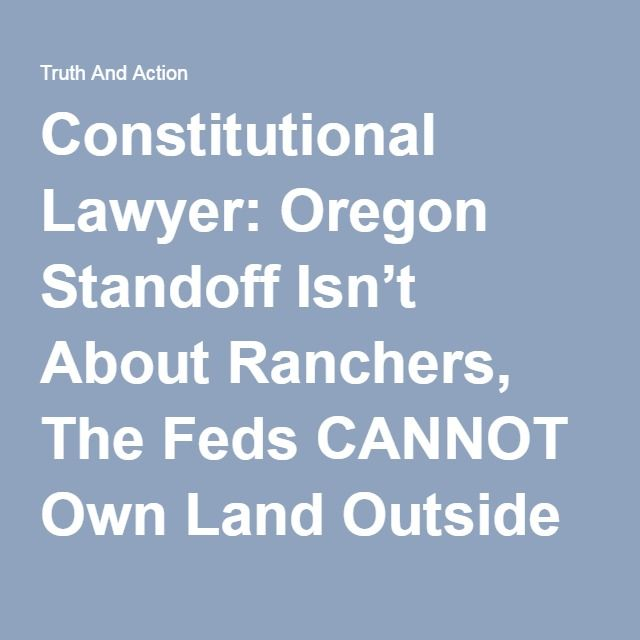 Constitutional Lawyer Oregon Standoff IsnT About Ranchers The
