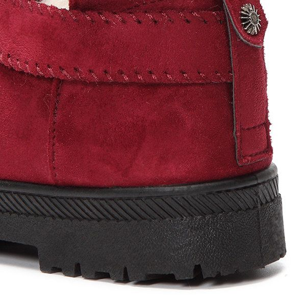 US Size 5-12 Fur Lining Snow Ankle Short Boots Round Toe Soft Winter Boots - US$27.99