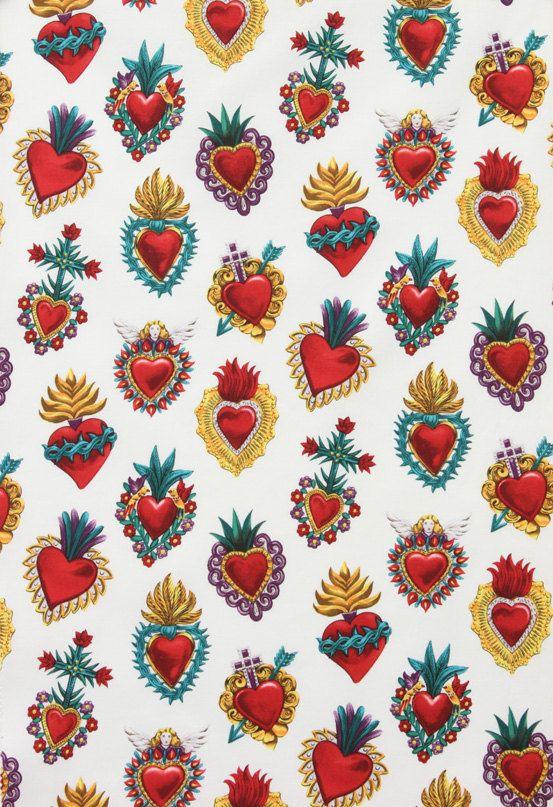 hearts corazones cœurs print estampado modèle