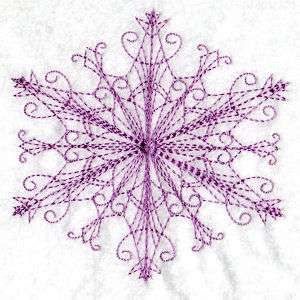 Free Embroidery Design: Snow or Stars