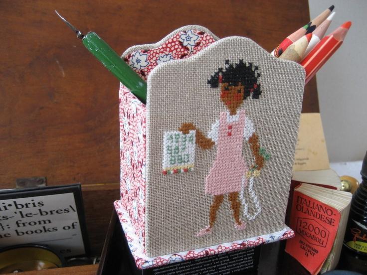 pencil box girl