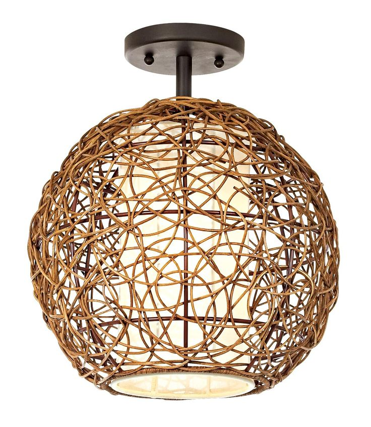 12 best ceiling lights images on pinterest ceiling lamps organic contemporary rattan ceiling fixture like the shape need it in another material mozeypictures Images