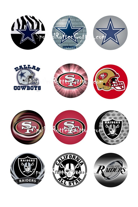 Football NFL 49ers Raiders Cowboys 1 Bottle by SpoiledRottenCotton, $0.99