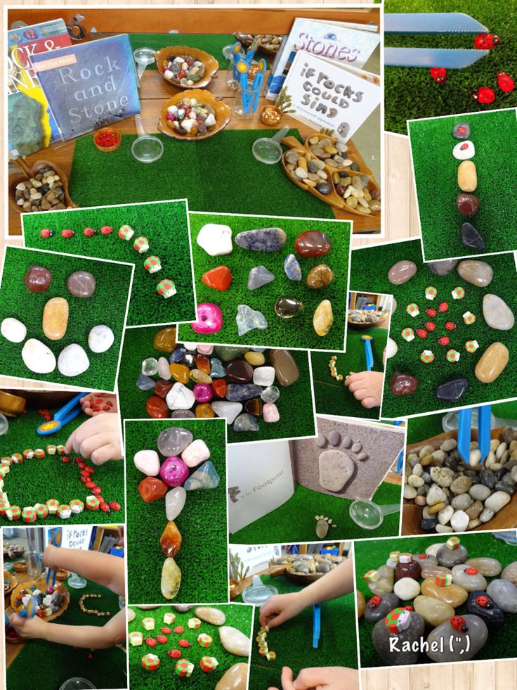 "Rocks, gemstones and ladybirds on the Finger Gym - from Rachel ("",)"