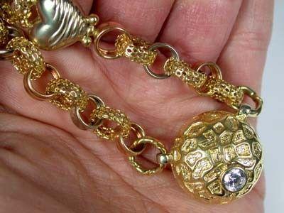 18K ITALIAN GOLD CHAIN , 43 CM LONG 31 GRAMS L391