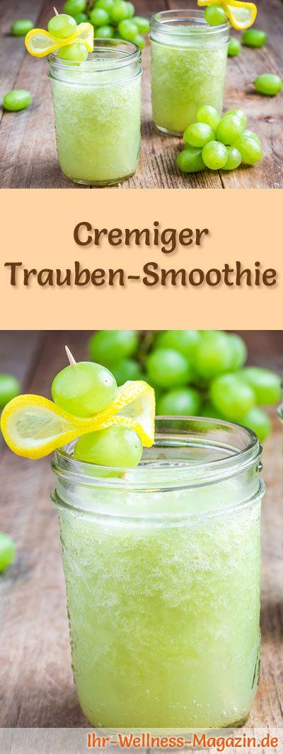 Trauben-Smoothie selber machen - ein gesundes Smoothie-Rezept zum Abnehmen für Frühstücks-Smoothies oder sättigende Diät-Mahlzeiten ...