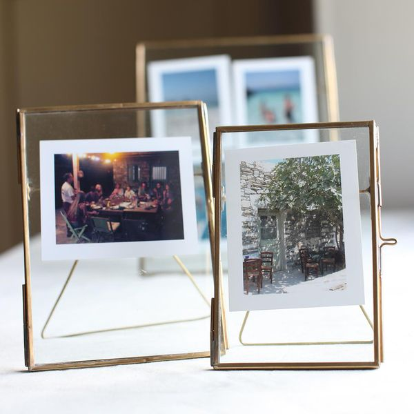 Antique Brass Recycled Glass Picture Frame - Hammers and Heels  - 1