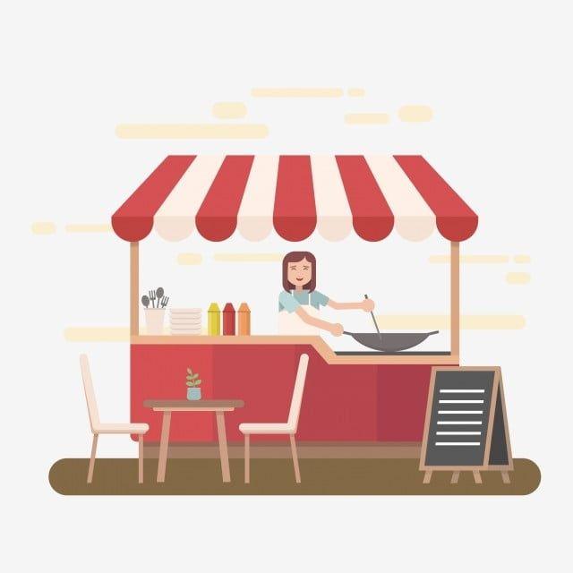 Gambar Kereta Kartun Png Gerai Makanan Kereta Kartun Gear Kereta Kartun Memasak Pelayan