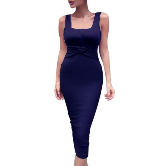 Bodycon Dress Sexy Slim Sleeveless Party Cocktail Club Dress