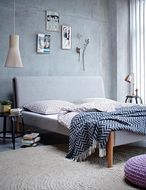 Die Graue Wand: Wohnen Mit Farben: Die Farbe Grau Im Schlafzimmer
