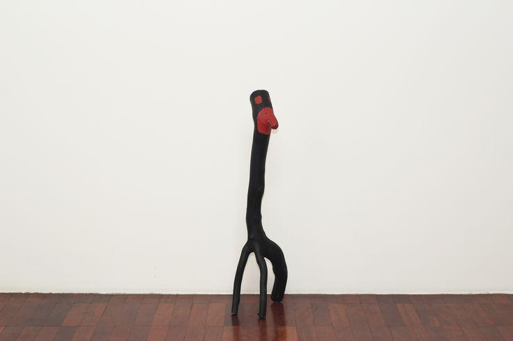 Cícero Alves dos Santos - Véio Sem título , 2012 Tinta acrílica e madeira 91 x 28 x 25 cm