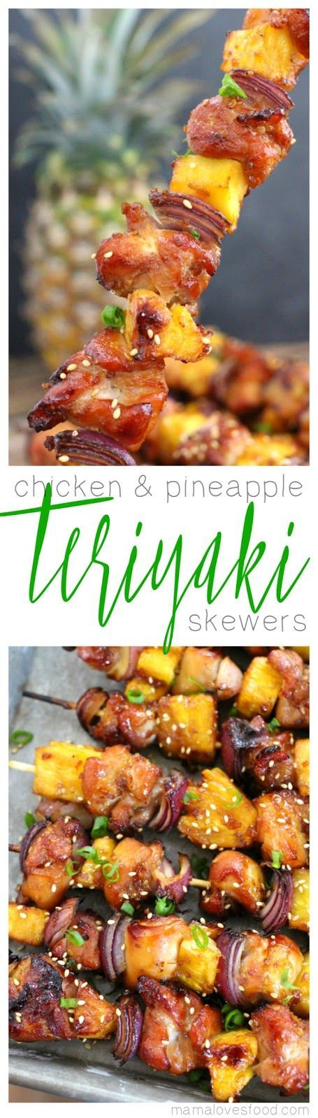 Chicken and Teriyaki Pineapple Skewers Kebab Recipe
