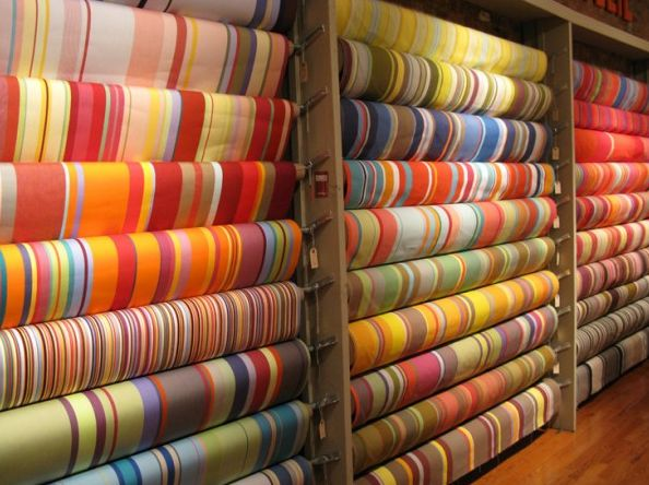 Les Toiles du Soleil, a shop in Chelsea: South Of France, French Stripes, French Fabrics, Stripes Fabrics, French Color, Fabrics Stores, Sunny Stripes, Fabrics Wall, Home Decor Fabric
