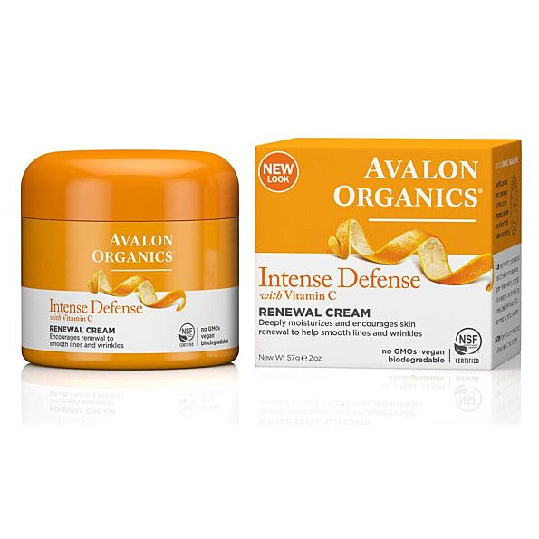 Avalon Organics Intense Defence with Vitamin C Renewal Cream. Organic healthy face moisturizers with spf you can find lots of these in marshalls
