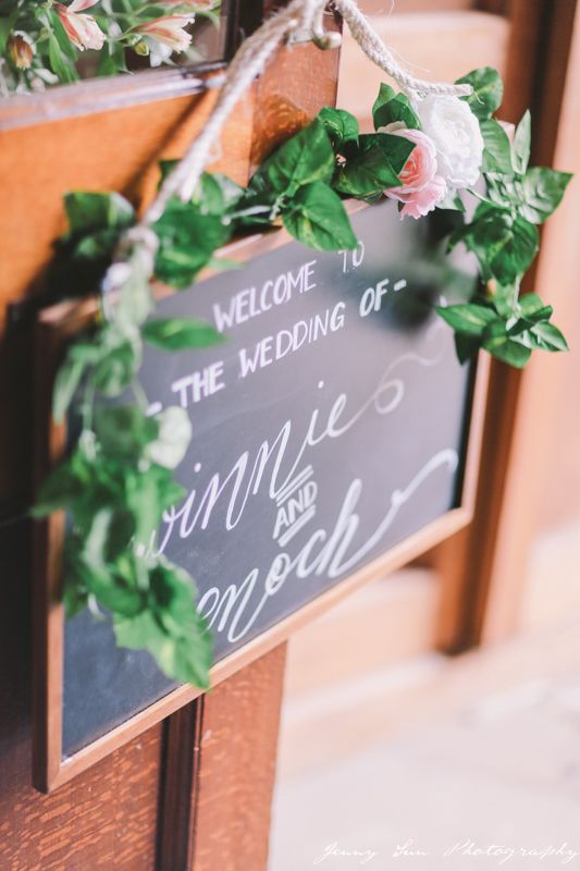 DIY Wedding Welcome Sign