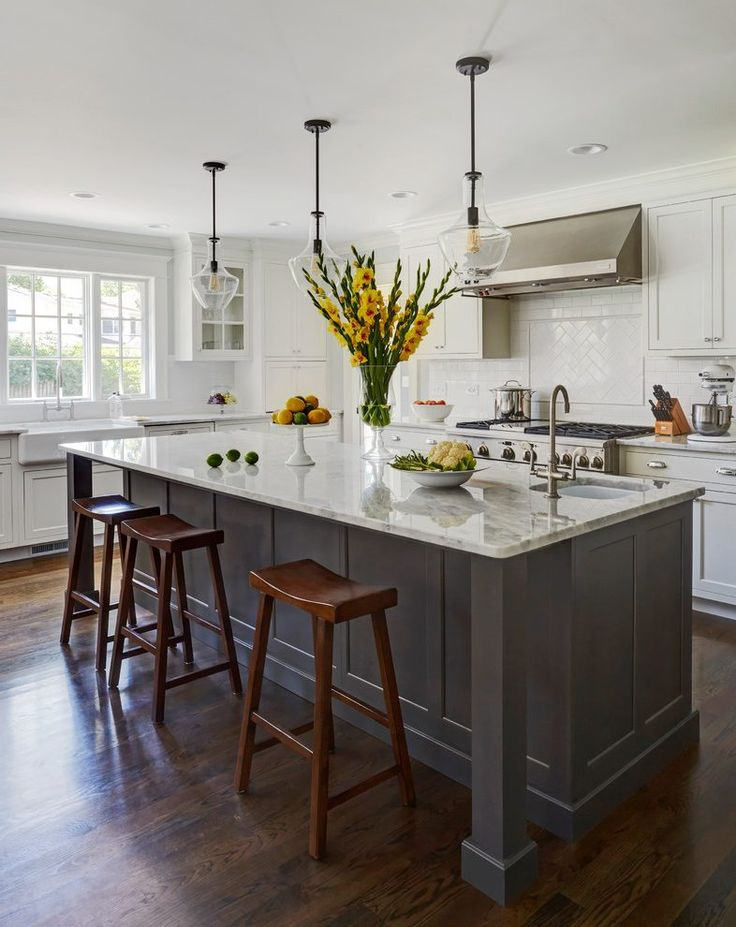 Pretty kitchen islands with sink and dishwasher kitchen transitional with dark wood floors contemporary bar faucets