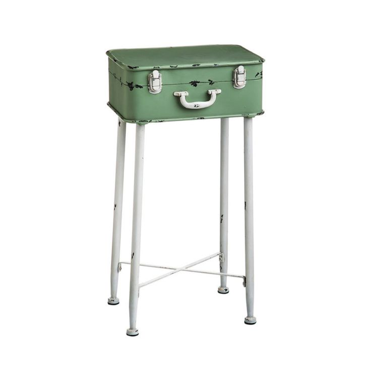 Minty Suitcase Side Table | dotandbo.com