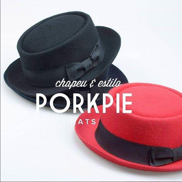 Escolha seu Porkpie !  Perfeito para Looks mais descolados ( Jeans e Jaquetas ), super versátil e atual.  www.chapeueestilo.com.br