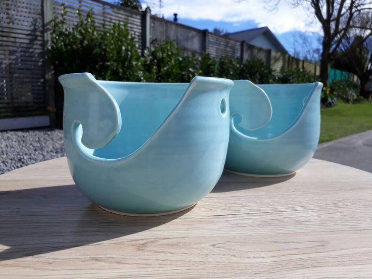 Knitting bowls Wheel thrown by Frank Hakkaart  West Melton Pottery