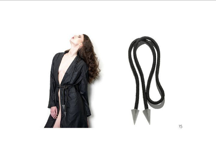 persephoni lookbook AW11 stainless steel belt / necklace photographer bill georgoussis