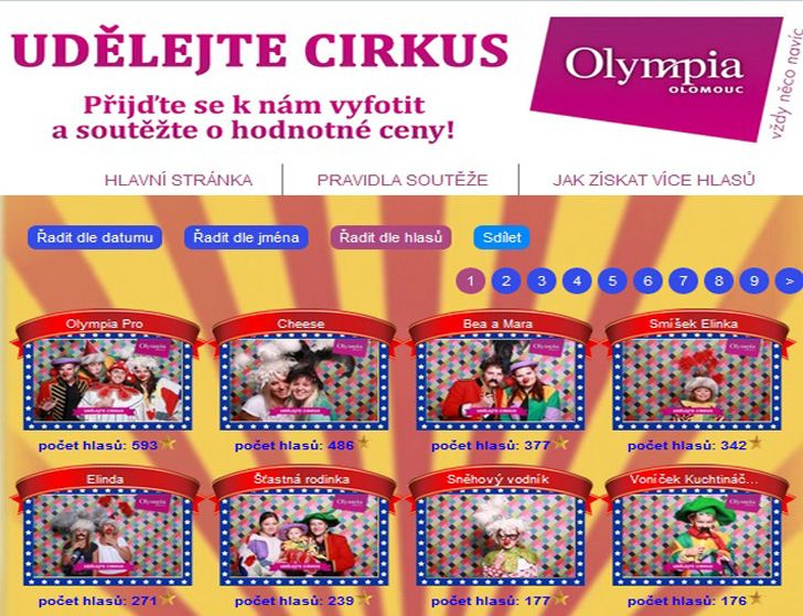 "Olympia Shopping center contest ""Cirkus"" #sweepstake"