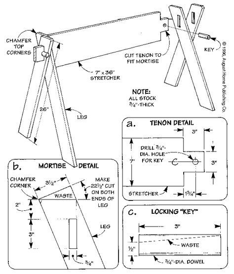 how to make a sawhorse out of 2x4