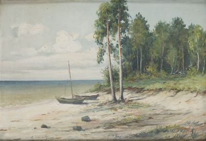 Eugeniusz Dzierzencki - Nad brzegiem Bałtyku