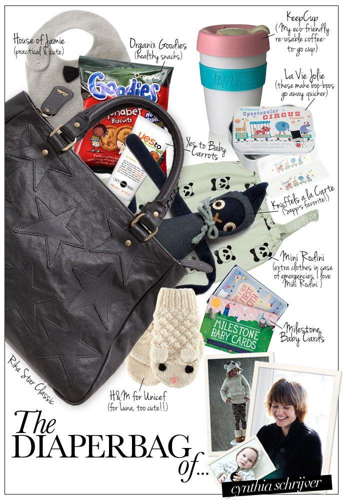 The Diaperbag of... Cynthia Schrijver - Pret a Pregnant